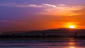 Oscilli vicino alla Moldavia all'entrata del fiume il Danubio sul territorio rumeno Fotografia Stock Libera da Diritti