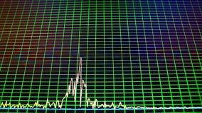 Oscillogram on PC screen stock video