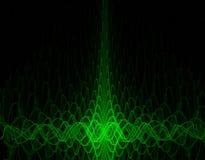 Oscillograph achtergrond stock illustratie