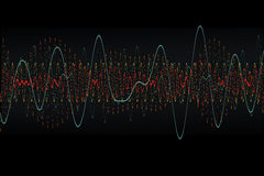 Oscillograph wave Stock Photography