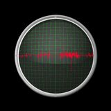 Oscilloscope. Illustration of oscilloscope and a triangle-shaped signal Royalty Free Stock Image