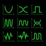 Oscilloscope Signal Set. Vector stock illustration