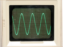 Oscilloscope Trace. Sine Wave trace on Oscilloscope Royalty Free Stock Images