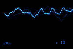 Oscilloscope trace to music Royalty Free Stock Images