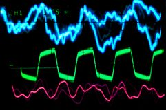 Oscilloscope waveform Royalty Free Stock Image