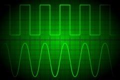Oscilloscopio digitale dello schermo Fotografia Stock