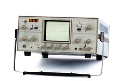 Oscilloscopio (isolato) Immagine Stock Libera da Diritti