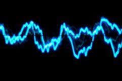 Oscilloskoptrace till musik Royaltyfri Bild