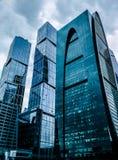Oscow Rosja, Wrzesień, - 24, 2016: Wspaniały nowożytny szklany skyscra Fotografia Stock