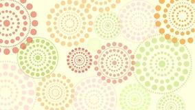 Oscurecimiento de círculos de pulsación stock de ilustración