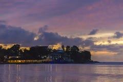 Oscuridad de Beau Vallon, Seychelles imágenes de archivo libres de regalías