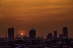 Oscuridad de la ciudad Imágenes de archivo libres de regalías