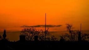 Oscuridad de la puesta del sol foto de archivo libre de regalías