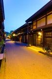 Oscuridad de madera V de los hogares de Takayama de la ciudad vieja Fotos de archivo
