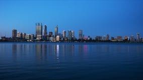 Oscuridad de Perth Australia occidental al lapso de la noche almacen de metraje de vídeo