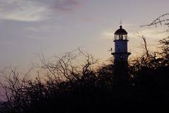 Oscuridad del faro de Leahi Foto de archivo libre de regalías