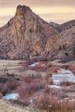 Oscuridad del invierno en montañas Imagenes de archivo