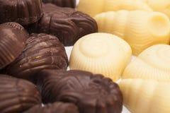 Oscuridad deliciosa y chocolate con leche Imagen de archivo libre de regalías