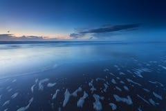 Oscuridad en costa de Mar del Norte Imágenes de archivo libres de regalías