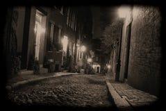 Oscuridad en el borde de la ciudad Fotos de archivo libres de regalías