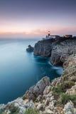 Oscuridad en el cabo St Vincent, Sagres, Algarve, Portugal Fotos de archivo libres de regalías