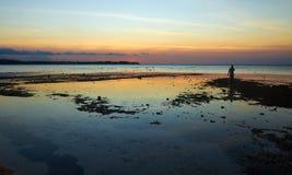 Oscuridad en Gili Air Foto de archivo libre de regalías