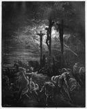 Oscuridad en la crucifixión imagenes de archivo