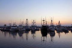 Oscuridad en San Diego Bay Fotografía de archivo