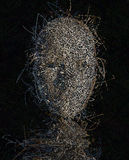 Oscuridad torcida temerosa Fotografía de archivo libre de regalías