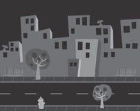 Oscuridad vacía de la historieta de la calle Imagen de archivo