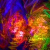 Oscuridad y papel pintado abstracto muy colorido del fractal con diferente y muchas formas Fotografía de archivo