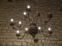Oscurità del lampadario a bracci Fotografia Stock