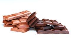 Oscurità e cioccolato al latte Fotografie Stock Libere da Diritti