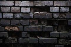 Oscurità in un vecchio muro di mattoni rovinato Fotografie Stock Libere da Diritti