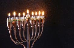Oscuro del fondo judío de Jánuca del día de fiesta