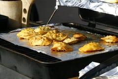 Oscypek al forno sulla griglia Fotografie Stock Libere da Diritti