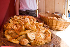 Oscypek cheese cakes on Gdansk fair market Royalty Free Stock Images