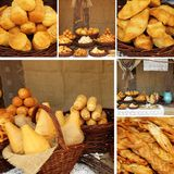 Oscypek cheese collage Stock Images