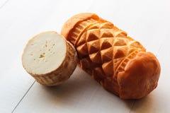 Oscypek, oscypki - tradycyjny uwędzony ser robić barani mleko obraz royalty free