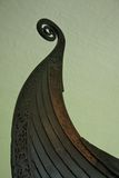The Oseberg Ship Prow in the Viking Ship Museum Stock Images