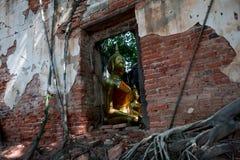 Osedda Thailand, Ang Thong Province Wat Sangkratai Fotografering för Bildbyråer