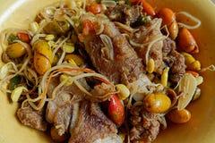Osengmlinjo, Aziatisch voedsel stock foto's