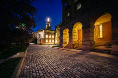 Osgoode Hall at night, in downtown Toronto, Ontario. Stock Images