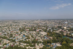 Osh skyline as seen from Sulaiman Mountain Stock Images