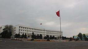 Osh stadshus, Kirgizistan lager videofilmer