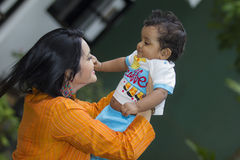 Oshadi and her baby Royalty Free Stock Photos