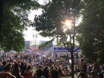 Osheaga 2014. View from under the trees Royalty Free Stock Image