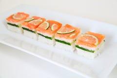 Oshi salmon. Traditional japanese food, sushi Royalty Free Stock Photo