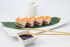 Oshi sushi with salmon Royalty Free Stock Photo