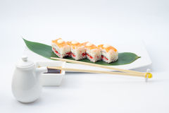 Oshi sushi with salmon Stock Photo